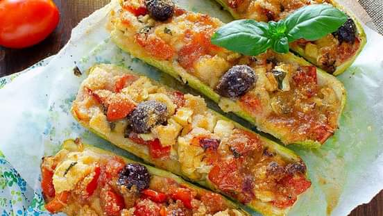 Courgettes farcies au fromage