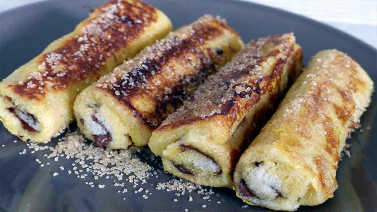 pain perdu fourrés au nutella