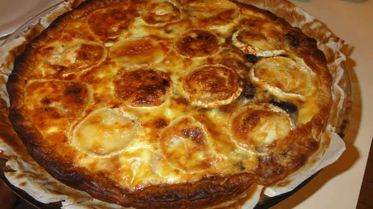 exquise quiche saumon fromage chèvre
