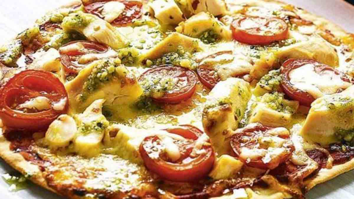 pizza gourmande poulet-pesto