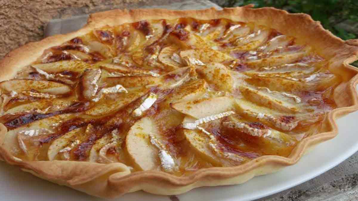 tarte aux pommes-camembert-curry