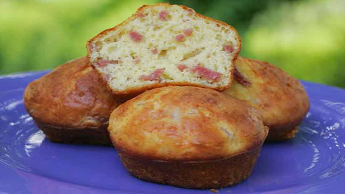 muffins au jambon et fromage