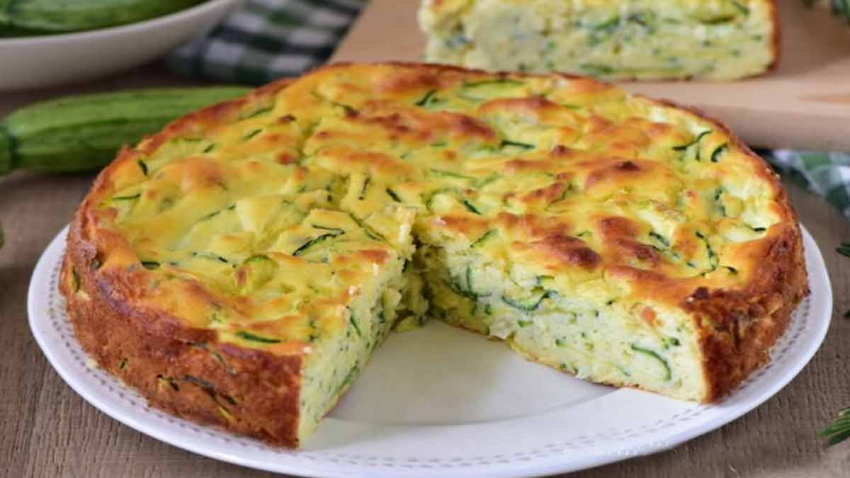 Exquise tarte invisible aux courgettes