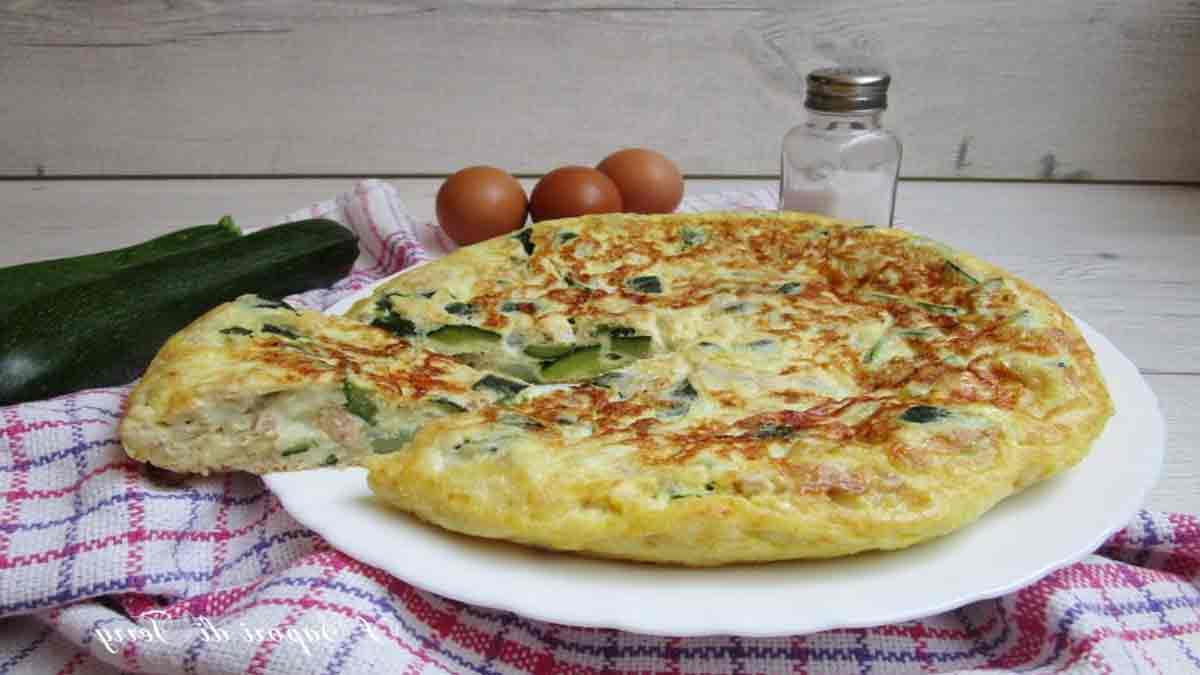 omelette thon courgette et fromage